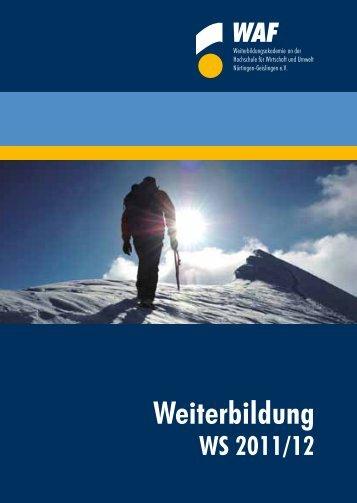 Kursprogramm_ WAF _ WS _11_12_web.pdf - Hochschule für ...