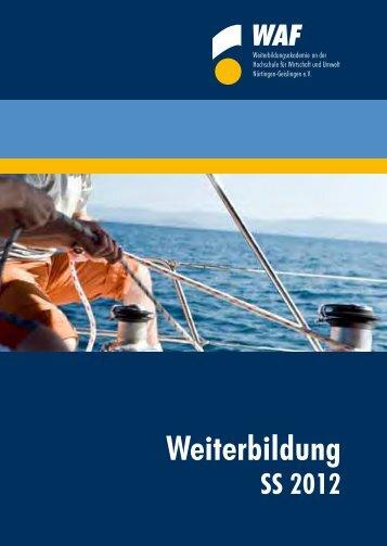 Weiterbildung - Hochschule für Wirtschaft und Umwelt Nürtingen ...