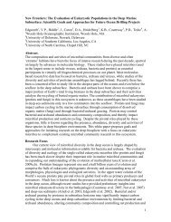 1 New Frontiers: The Evaluation of Eukaryotic Populations ... - Marum