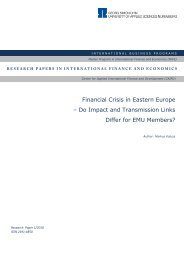 Financial Crisis in Eastern Europe - Ohm-Hochschule Nürnberg