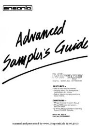 Ensoniq Mirage DSK-8 Advanced Sampler's Guide - Srpl.com