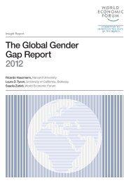 The Global Gender Gap Report 2012 - World Economic Forum