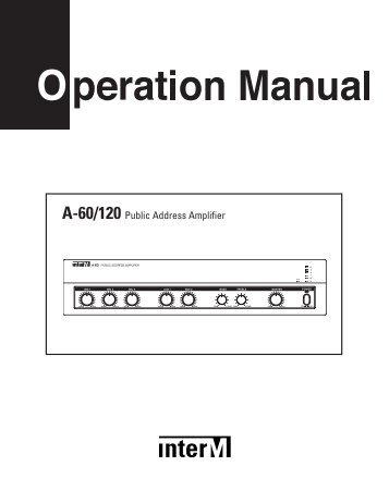 A-60/120 Public Address Amplifier - Inter-M
