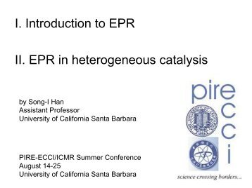 Han - PIRE-ECCI - University of California, Santa Barbara