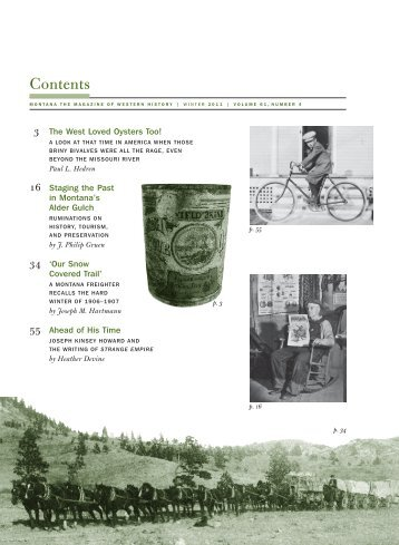 Table of Contents - Montana Historical Society