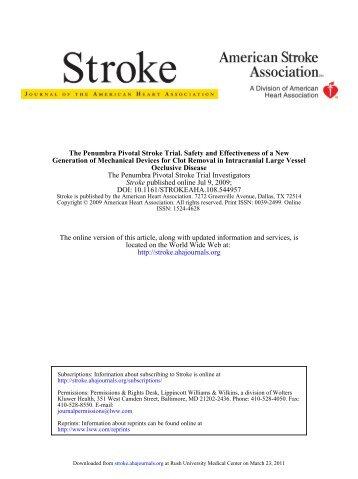 DOI: 10.1161/STROKEAHA.108.544957 published online Jul 9 ...