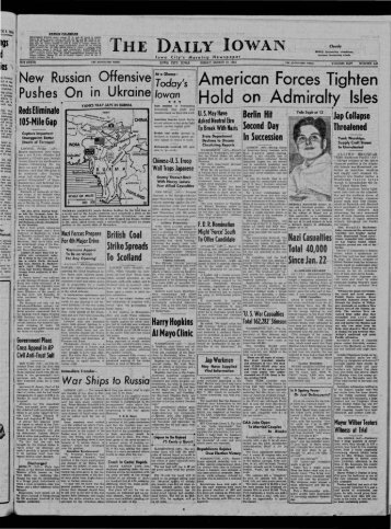 March 10 - The Daily Iowan Historic Newspapers - University of Iowa