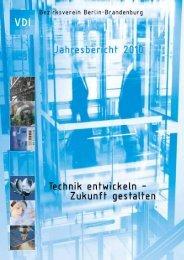 Der Bericht 2010 - (VDI) Berlin-Brandenburg