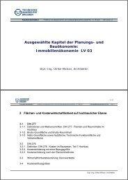 Ausgewählte Kapitel der Planungs- und ök i Bauökonomie ... - Index of