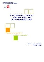 regenerative energien und nachhaltige stadtentwicklung