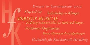 Konzerte - Hochschule für Kirchenmusik