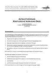 Orgel - Hochschule für Kirchenmusik