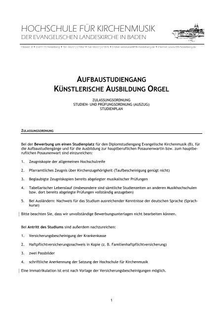 Orgel Hochschule Fur Kirchenmusik