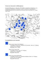 Parken in der Innenstadt von Hildburghausen Die Stadt ...