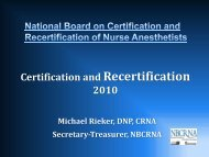 Recertification Certification and