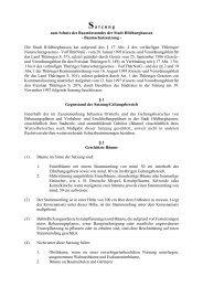 Baumschutzsatzung - Hildburghausen