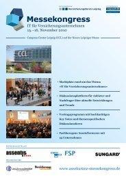 Programm 2010 - Versicherungsforen Leipzig