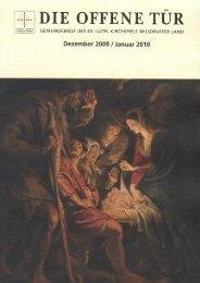DIE OFFENE TÃœR - Dezember 2009 / Januar 2010 - Kirche Wilsdruff