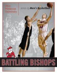2012-13 Men's Basketball - Ohio Wesleyan University