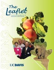 Spring 2007 Leaflet - Department of Plant Sciences - UC Davis