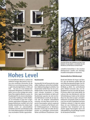 Hohes Level - hildebrandt.lay.architekten