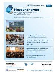 Congress Center Leipzig (CCL) auf der Neuen ... - Messekongresse