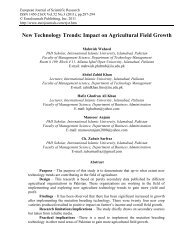 New Technology Trends: Impact on Agricultural Field ... - EuroJournals