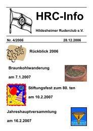 Heft 4 - Hildesheimer Ruder-Club