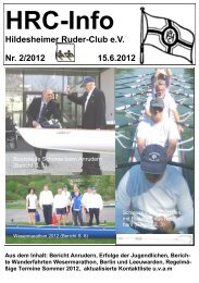 Stand 15.6.2012 - Hildesheimer Ruder-Club