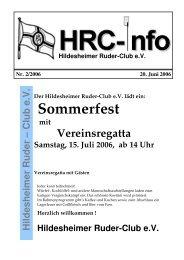 Heft 2 - Hildesheimer Ruder-Club