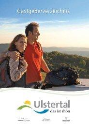 Gastgeberverzeichnis Ulstertal - Ehrenberg