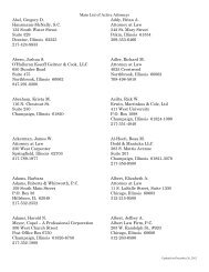 Main List of Active Attorneys Abel, Gregory D. Hausmann-McNally ...