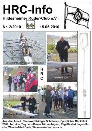 Wanderfahrten des HRC 2010 - Hildesheimer Ruder-Club