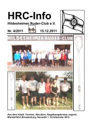 HRC-Info - Hildesheimer Ruder-Club