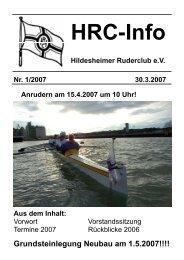 Heft 1 - Hildesheimer Ruder-Club