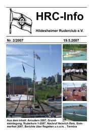 Nachruf Heinrich Reis - Hildesheimer Ruder-Club