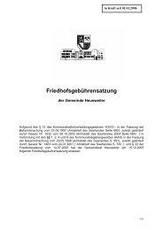 Friedhofsgebührensatzung - Gemeinde Heusweiler