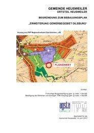 erweiterung gewerbegebiet dilsburg - Gemeinde Heusweiler