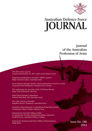ISSUE 188 : Jul/Aug - 2012 - Australian Defence Force Journal