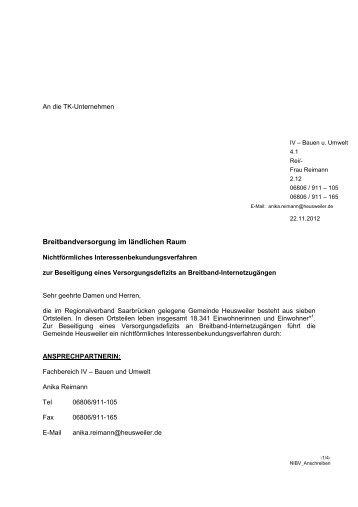 Unterlagen NIBV - Gemeinde Heusweiler