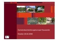 Gemeindeentwicklungskonzept Eiweiler - Gemeinde Heusweiler