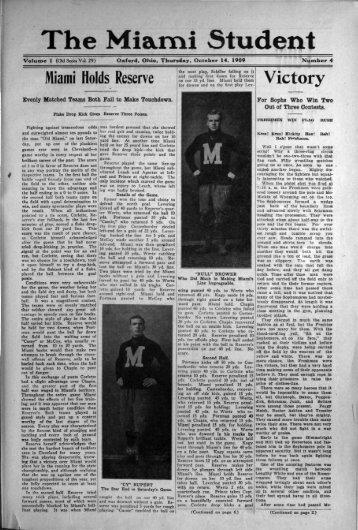 The Mia.mi Student - Miami Digital Collections