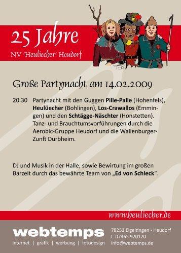 25 Jahre - Narrenverein Heuliecher Heudorf