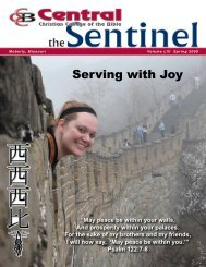 Sentinel - Central Christian College of the Bible