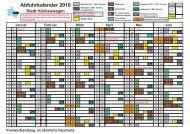 Abfuhrkalender 2010 - Bergischer Abfallwirtschaftsverband