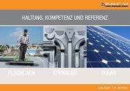 FLACHDACH SPENGLER SOLAR HALTUNG ... - Burlet AG