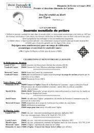 Dimanche 4 mars, 18h00 - Eglise catholique en Pays de Vaud