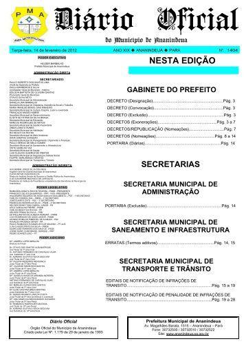 Diário de Fevereiro do dia 14 - Prefeitura de Ananindeua