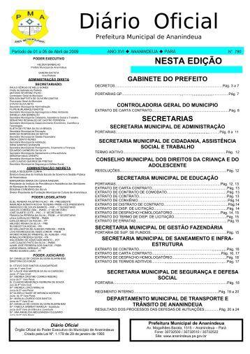NESTA EDIÇÃO - Prefeitura de Ananindeua