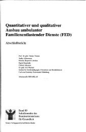 Quantitativer und qualitativer Ausbau ambulanter ...